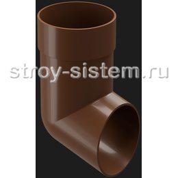 Отвод трубы Docke Premium D85 мм RAL 8017 Каштан