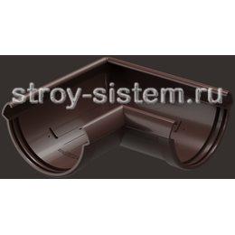 Угол желоба Docke Lux D141 мм 90 градусов RAL 8019 Шоколад