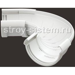 Угол регулируемый Docke Lux D141 мм 60-160 градусов RAL 9003 Пломбир