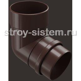 Колено трубы Docke Lux D100 мм 72 градуса RAL 8019 Шоколад