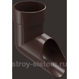 Отвод трубы Docke Lux D100 мм RAL 8019 Шоколад