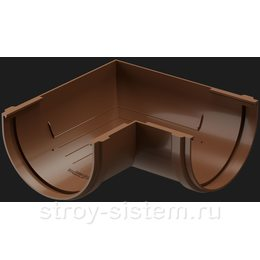 Угол желоба Docke Premium D120 мм 90 градусов RAL 8017 Каштан