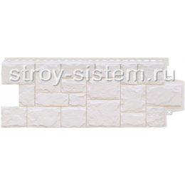 Фасадные панели Grand Line Крупный камень молочный 982 х 383 мм