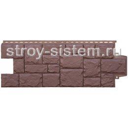 Фасадные панели Grand Line Крупный камень коричневый 982 х 383 мм