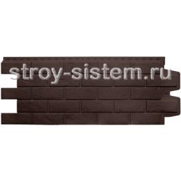 Фасадные панели Grand Line Состаренный кирпич коричневый