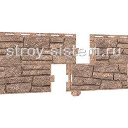 Фасадные панели Stone House сланец бурый 2000х225 мм