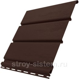 Софит Ю-пласт без перфорации коричневый 3000x300 мм