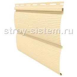 Виниловый сайдинг Блок-хаус Ю-пласт кремовый 3400х230 мм