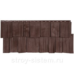 Фасадная панель Т-сайдинг Щепа Дуб Эко-1 Браун