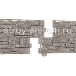 Фасадные панели Stone House сланец светло-серый 2000х225 мм