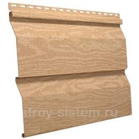 Виниловый сайдинг Тимберблок кедр янтарный 3050x230 мм