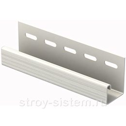 J-планка Ю-пласт белый 3050 мм