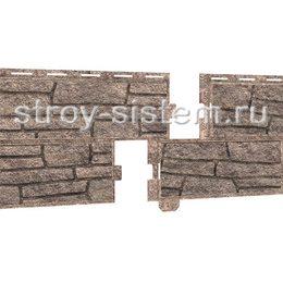 Фасадные панели Stone House сланец бежевый 2000х225 мм