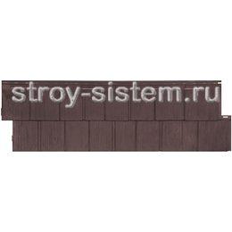 Фасадная панель Т-сайдинг Щепа Пихта Эко-1 Браун