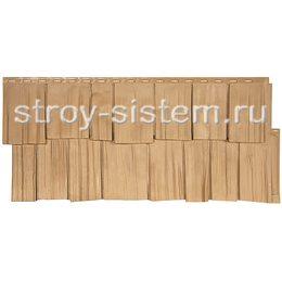 Фасадная панель Т-сайдинг Щепа Дуб Эко-1 Крем