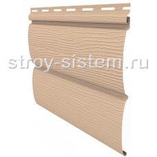 Виниловый сайдинг Блок-хаус Ю-пласт бежевый 3400х230 мм