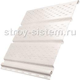 Софит Ю-пласт с полной перфорацией белый 3000x300 мм