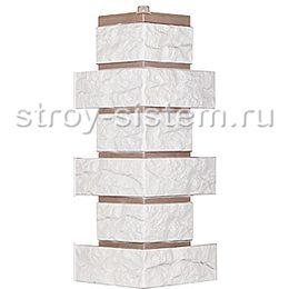 Наружный угол для фасадных панелей Т-Сайдинг Лондон Брик белый