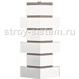 Угол наружный для фасадных панелей Т-Сайдинг Модерн белый