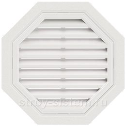 Вентиляционная решетка Т-Сайдинг белая 550 мм