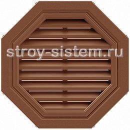 Вентиляционная решетка Т-Сайдинг коричневая 550 мм