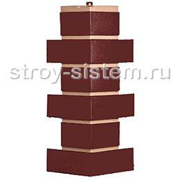 Угол наружный для фасадных панелей Т-Сайдинг Модерн коричневый