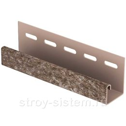 J-планка Stone House кварцит коричневый 3050 мм