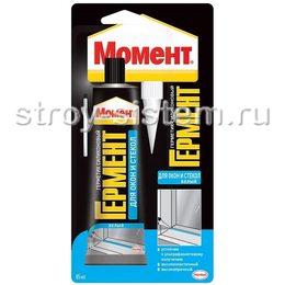 Герметик Момент Гермент силикон. для окон и стекол, прозрач. 85 мл