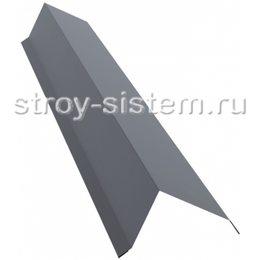 Планка торцевая 95х120 мм Ral 9006