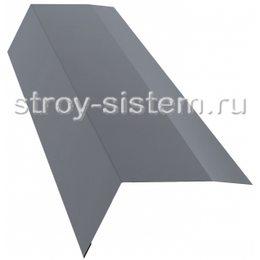 Планка карнизная RAL 9006 100х65 мм