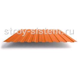 Профнастил С21 RAL 2004 оранжевый 0,45 мм