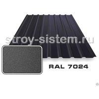 Профнастил С8 матовый RAL 7024 Графитовый-серый 0,45 мм