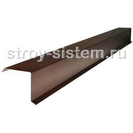 Планка торцевая 95x120 мм матовый Ral 8017