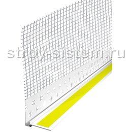 Профиль ПВХ примыкающий оконный с сеткой 6 мм 2,4 м
