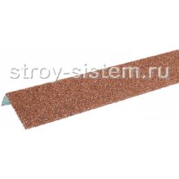Наличник оконный металлический Технониколь Hauberk Красный 1250х100х50 мм