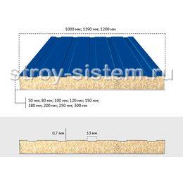 Сэндвич-панели стеновые шириной 1190 мм с базальтовым наполнителем 80 мм RAL 5005/RAL 9002