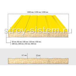 Сэндвич-панели стеновые шириной 1190 мм с базальтовым наполнителем 80 мм RAL 1018/RAL 9002