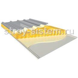 Кровельные сэндвич-панели с базальтовым наполнителем 250 мм RAL 7004/RAL 9002