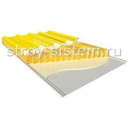 Кровельные сэндвич-панели с базальтовым наполнителем 250 мм RAL 1018/RAL 9002