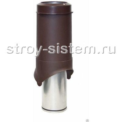 Выход вентиляции Krovent Pipe-VT 125is RAL 8017 Шоколадно-коричневый