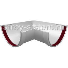 Угол желоба Grand Line ПВХ D120/87 мм универсальный 90 градусов белый