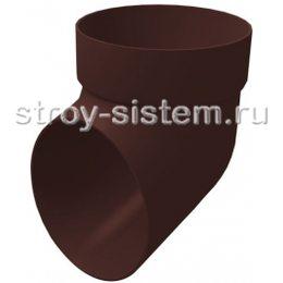 Колено сливное Grand Line ПВХ D120/87 мм шоколадный