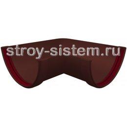 Угол желоба Grand Line ПВХ D120/87 мм универсальный 90 градусов шоколадный