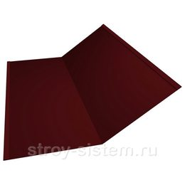 Ендова нижняя 298х298х2000 мм матовый RAL 3005 винно-красный