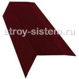 Планка карнизная MATT Ral 3005 Красное вино 100х65 мм