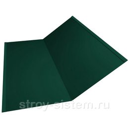 Ендова нижняя 298х298х2000 мм матовый RAL 6005 зелёный мох