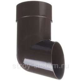 Отвод трубы Docke Premium D85 мм RAL 8019 Шоколад