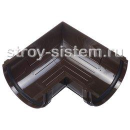 Угол желоба Docke Premium D120 мм 90 градусов RAL 8019 Шоколад