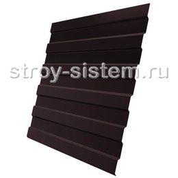 Профнастил С8 RAL 8017 шоколадно-коричневый 0,35 мм