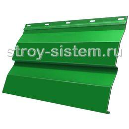Металлический сайдинг корабельная доска 0,5 мм RAL 6029 мятно-зеленый